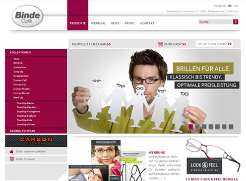 Binde Optik - Webdesign